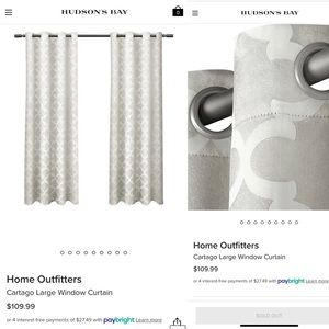 New 54x108 Curtains/Drapes
